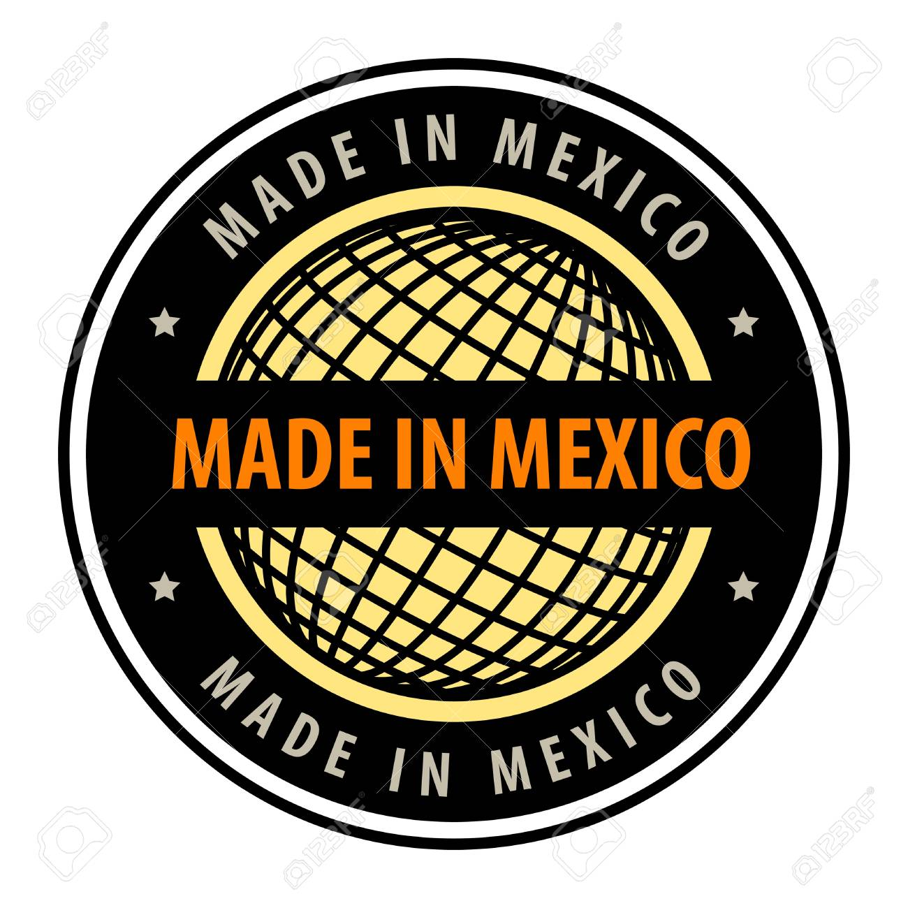 Made in mexico label Stock Vector - 13946189