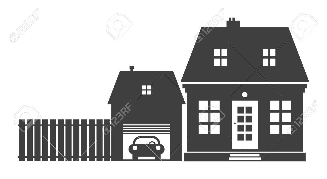 Home and garage Stock Vector - 13973099
