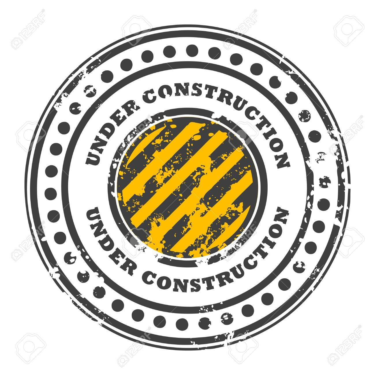 Abstract grunge rubber stamp with the words under construction written inside the stamp Stock Vector - 14019054