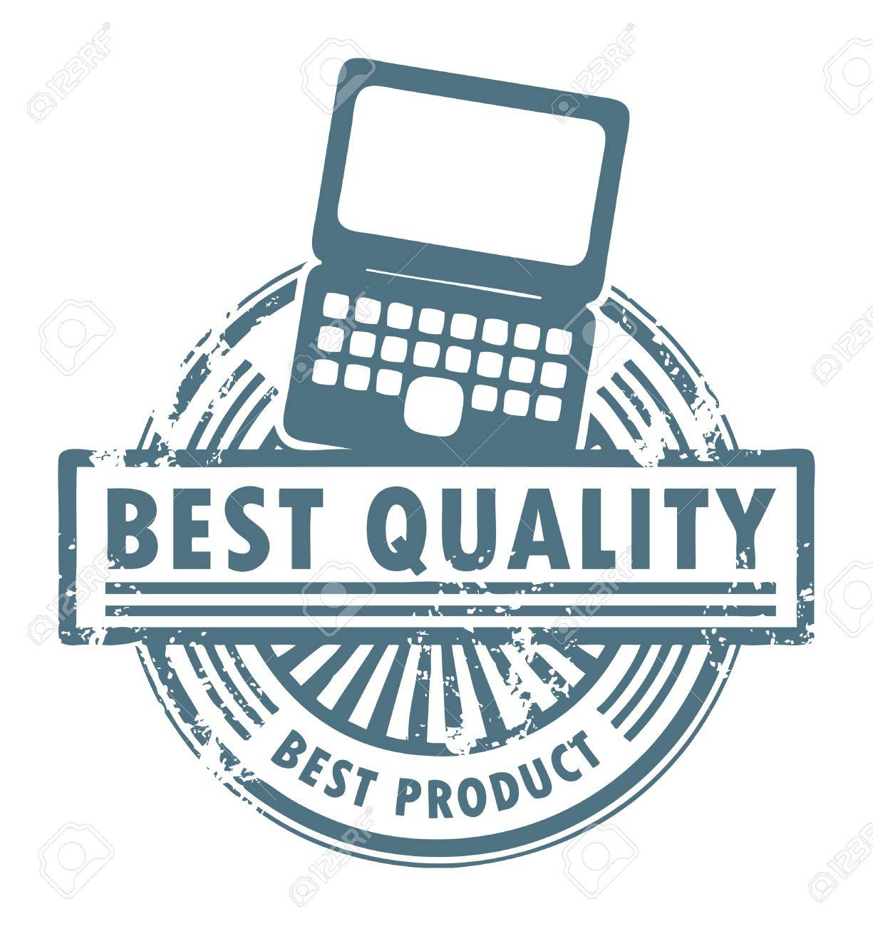Grunge rubber stamp with the laptop computer and word best quality written inside Stock Vector - 14068494