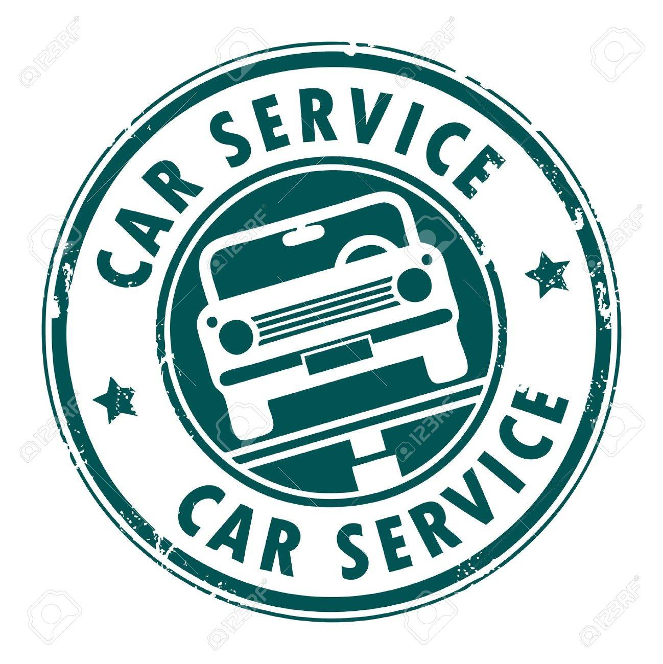 car service grunge stamp stock vector 14068565