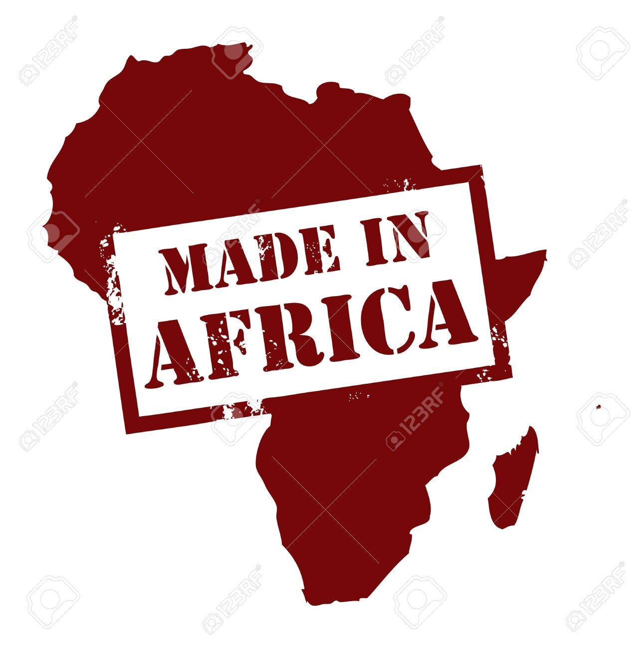 Abstract grunge stamp with the word Made in Africa written inside Stock Vector - 14169854
