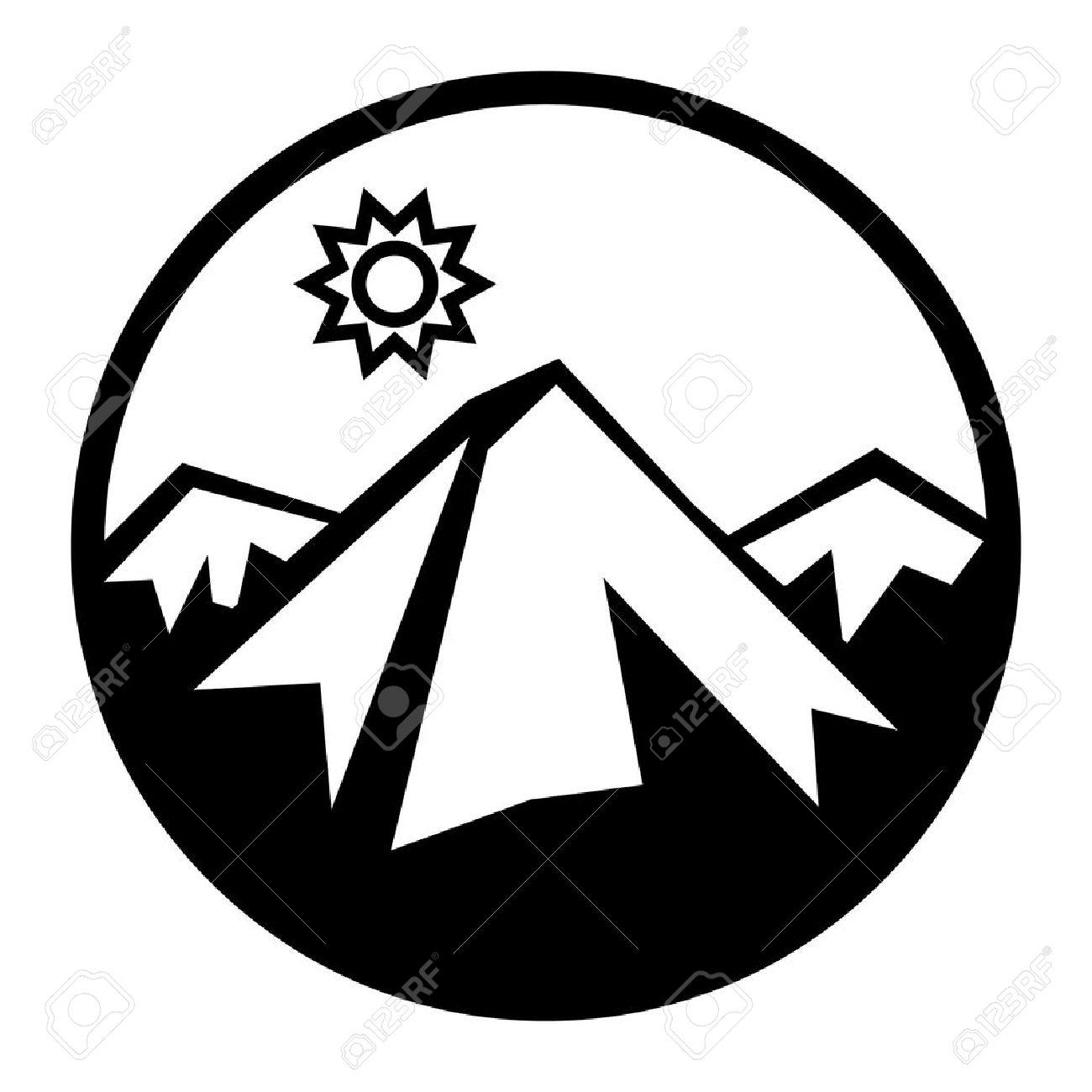 Mountains and sun icon Stock Vector - 14169822