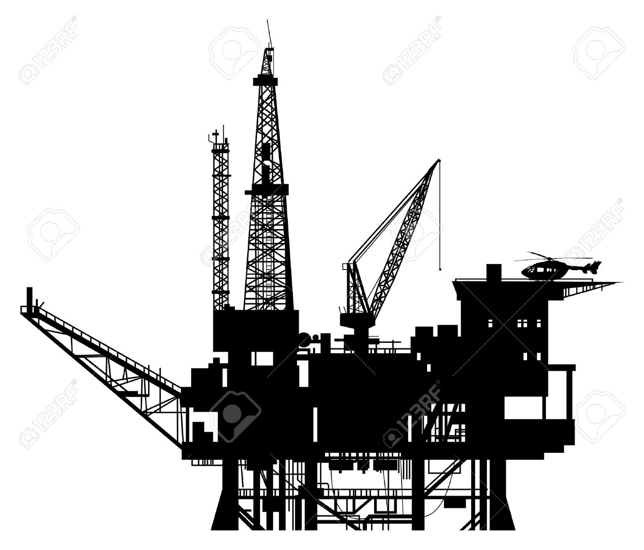 Oil Tower Drawing Platform Oil Drilling Rig