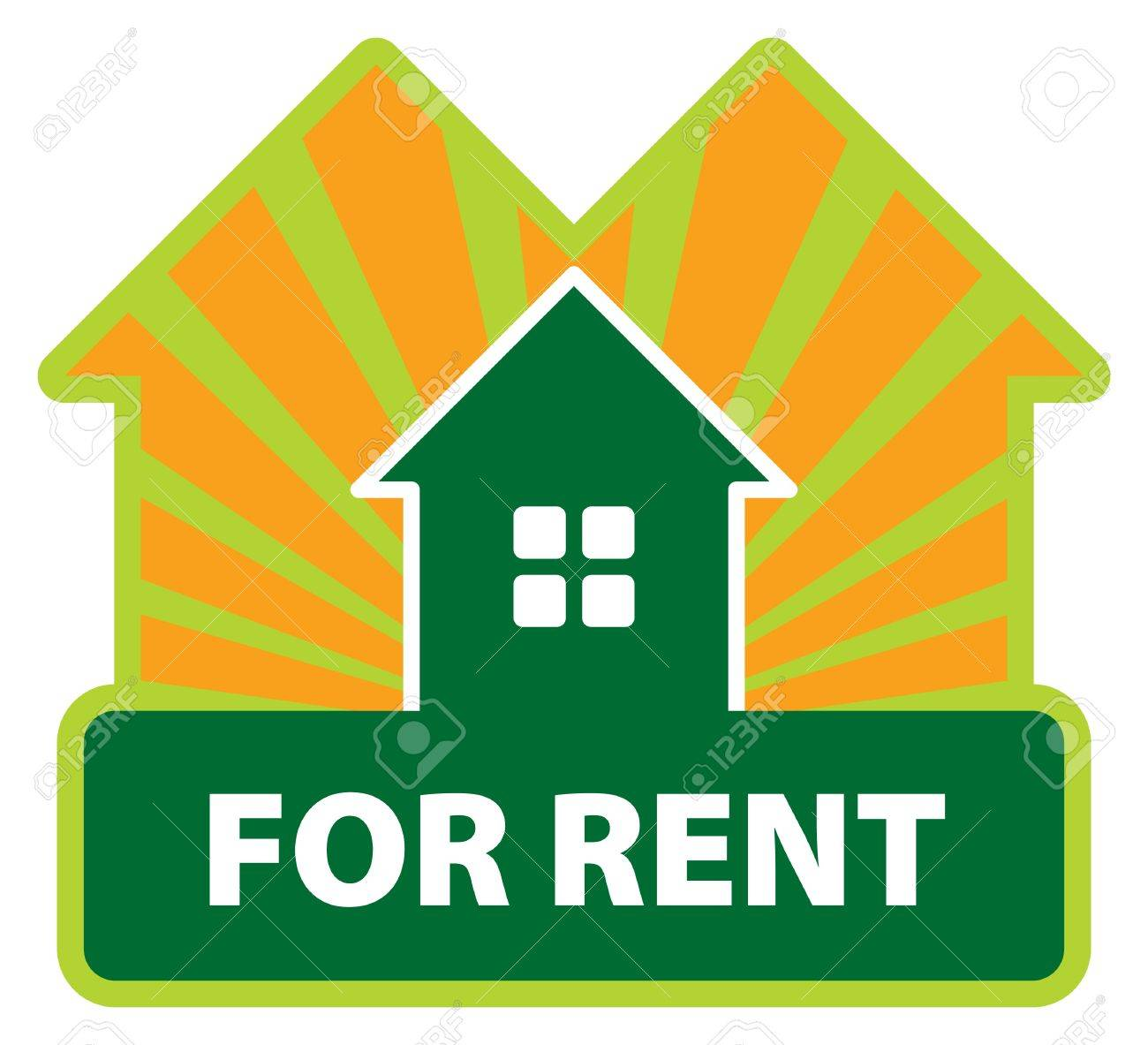 Color Label House For Rent Royalty Free Cliparts, Vectors, And ...