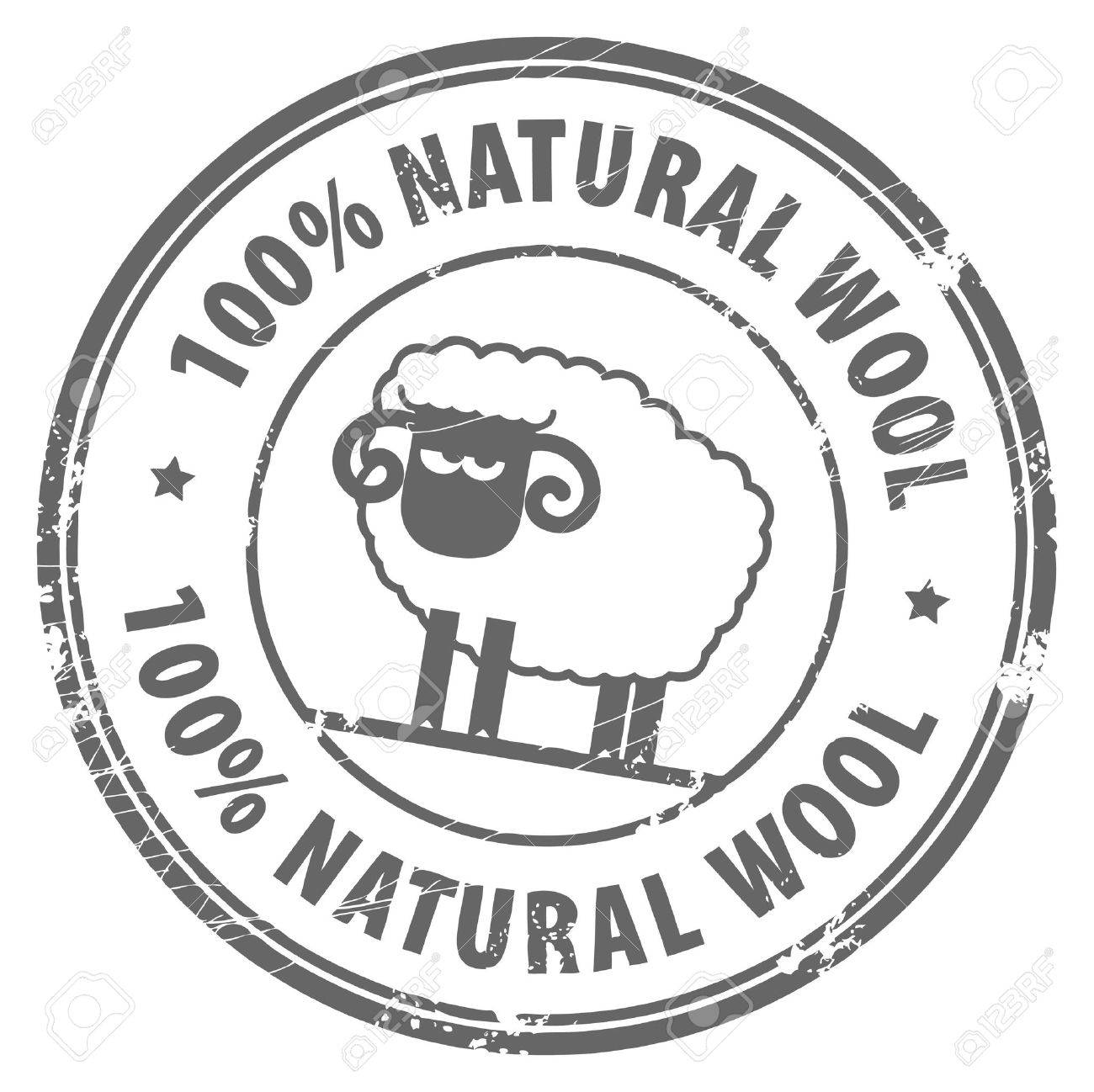 Abstract grunge rubber stamp with small sheep and the words 100  Natural Wool written inside Stock Vector - 14410718