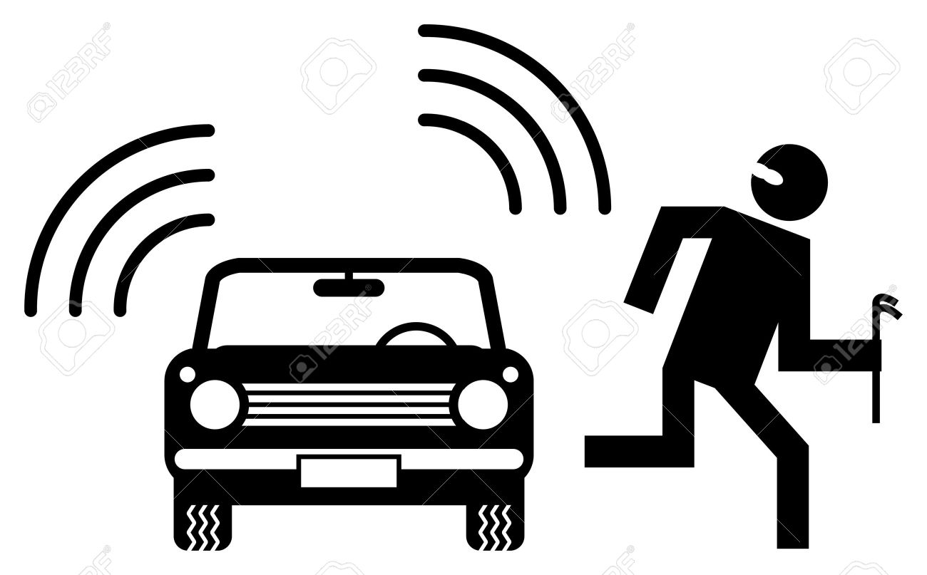 Car alarm Stock Vector - 14459487