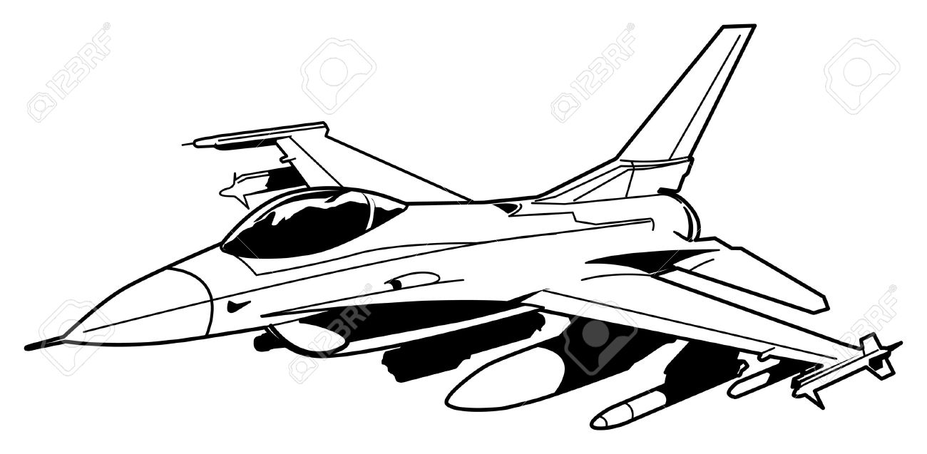 jet fighter aircraft stock vector 14513577
