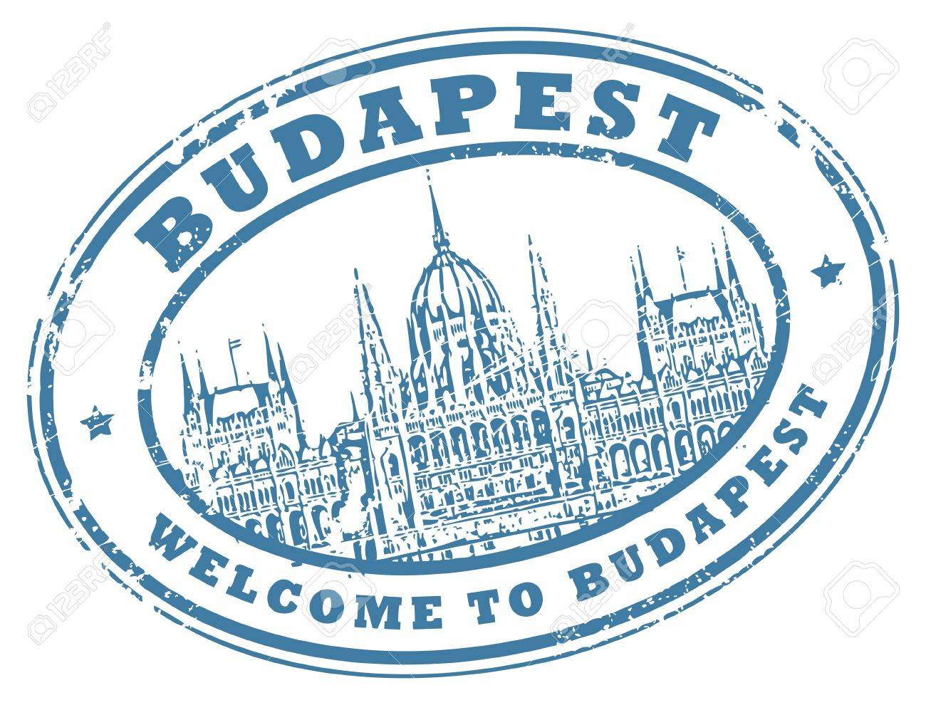 Grunge rubber stamp with Parliament building and the words Budapest inside Stock Vector - 14513593