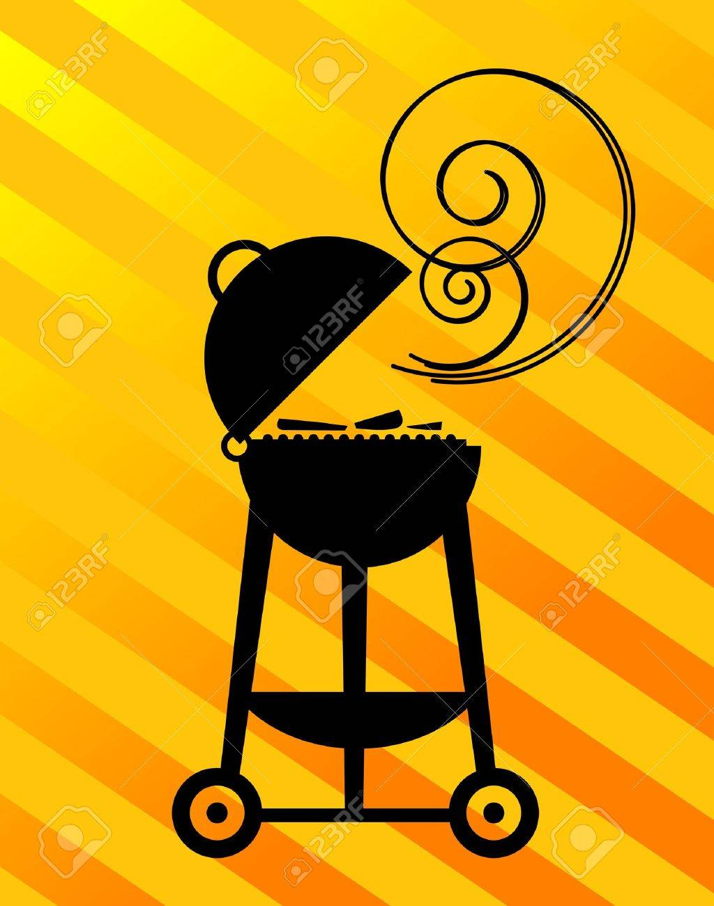BBQ Silhouette Stock Vector - 14561923