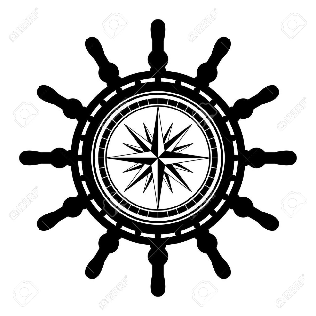 Extrêmement Pirate Ship Wheel Vector KH57