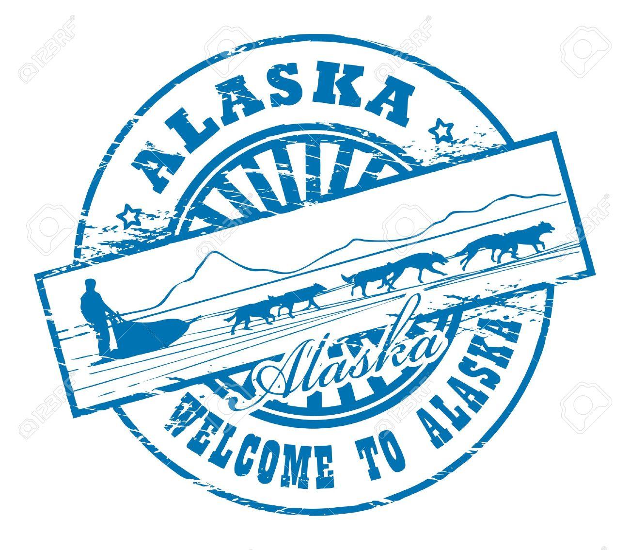 Clip Art Alaska Clip Art 5076 alaska stock vector illustration and royalty free clipart grunge rubber stamp with dog sled name of alaska