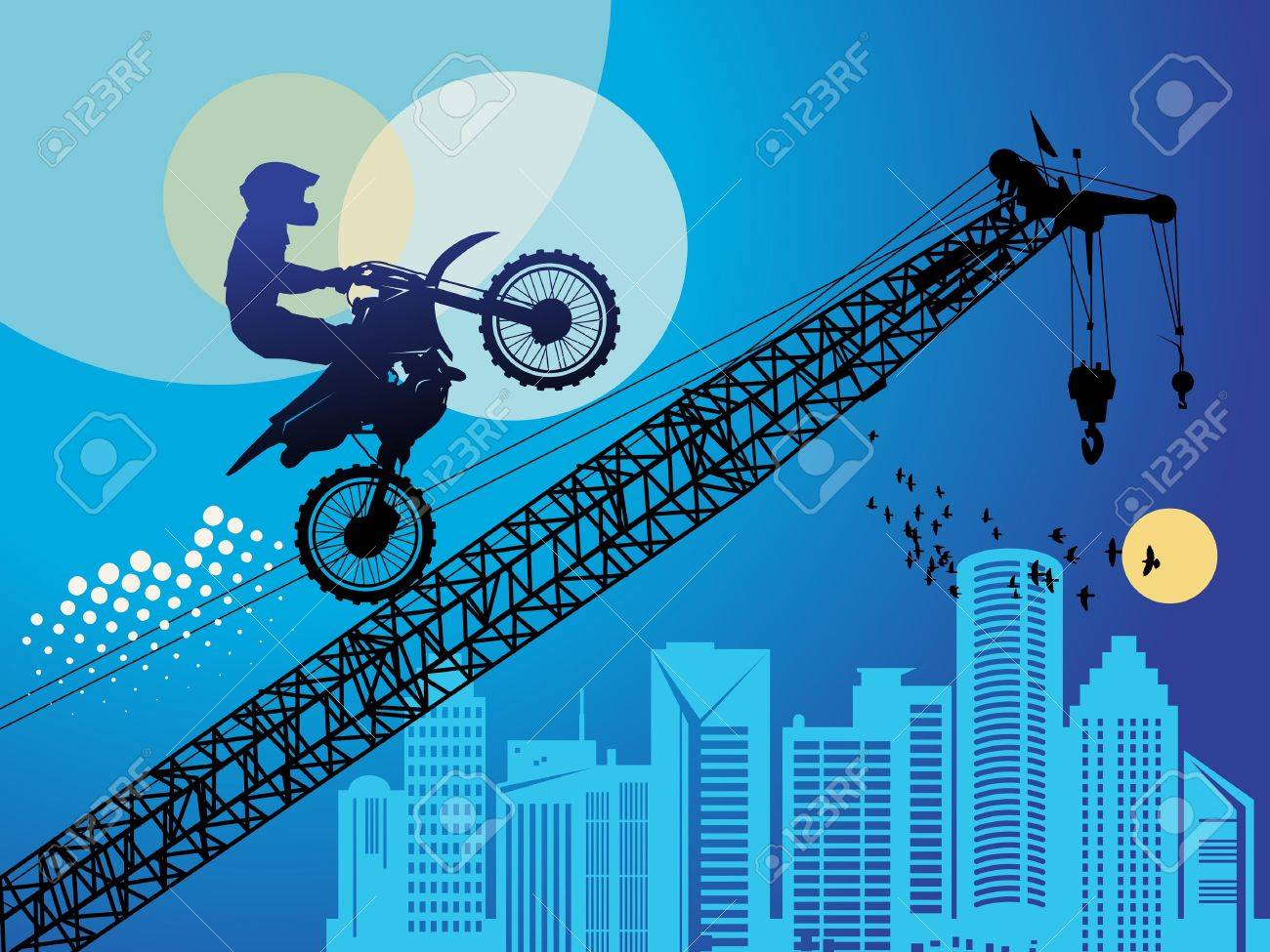 Motocross background Stock Vector - 14975928