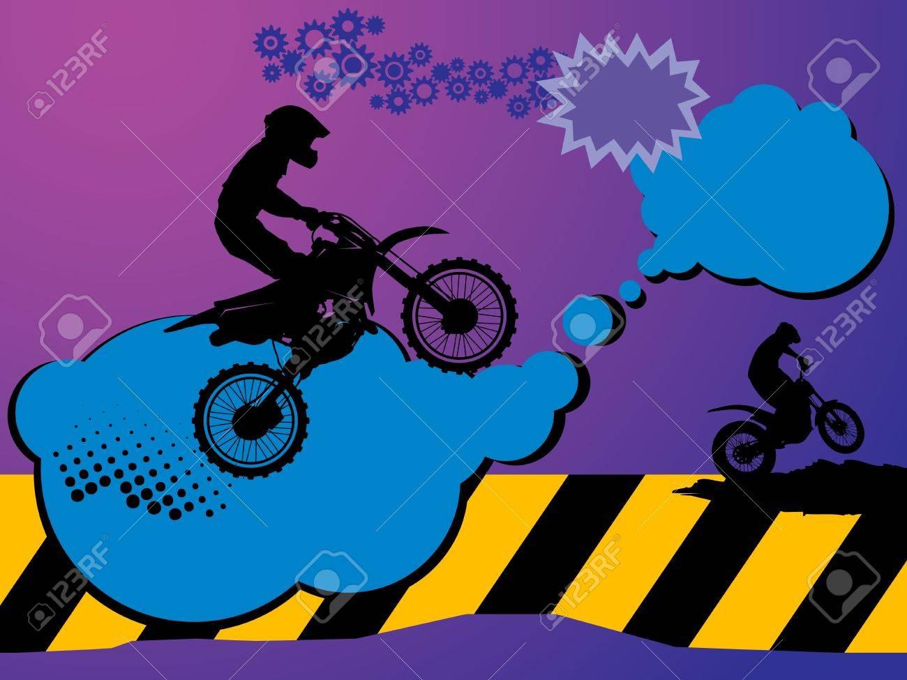 Motocross background Stock Vector - 14975932