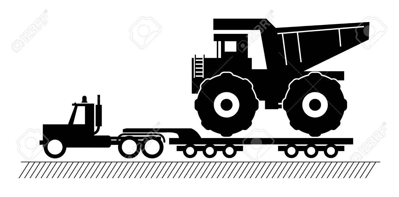 Truck delivers the big dump truck Stock Vector - 14975902