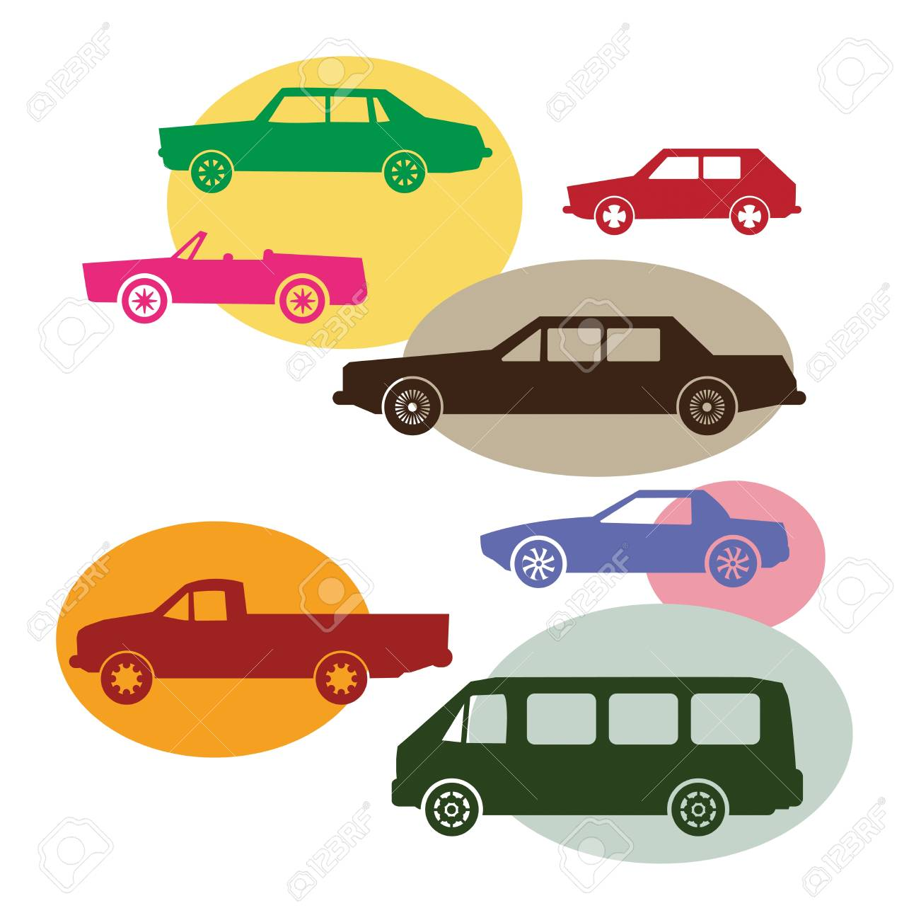 Set of different car symbols royalty free cliparts vectors and set of different car symbols stock vector 15233669 biocorpaavc Gallery