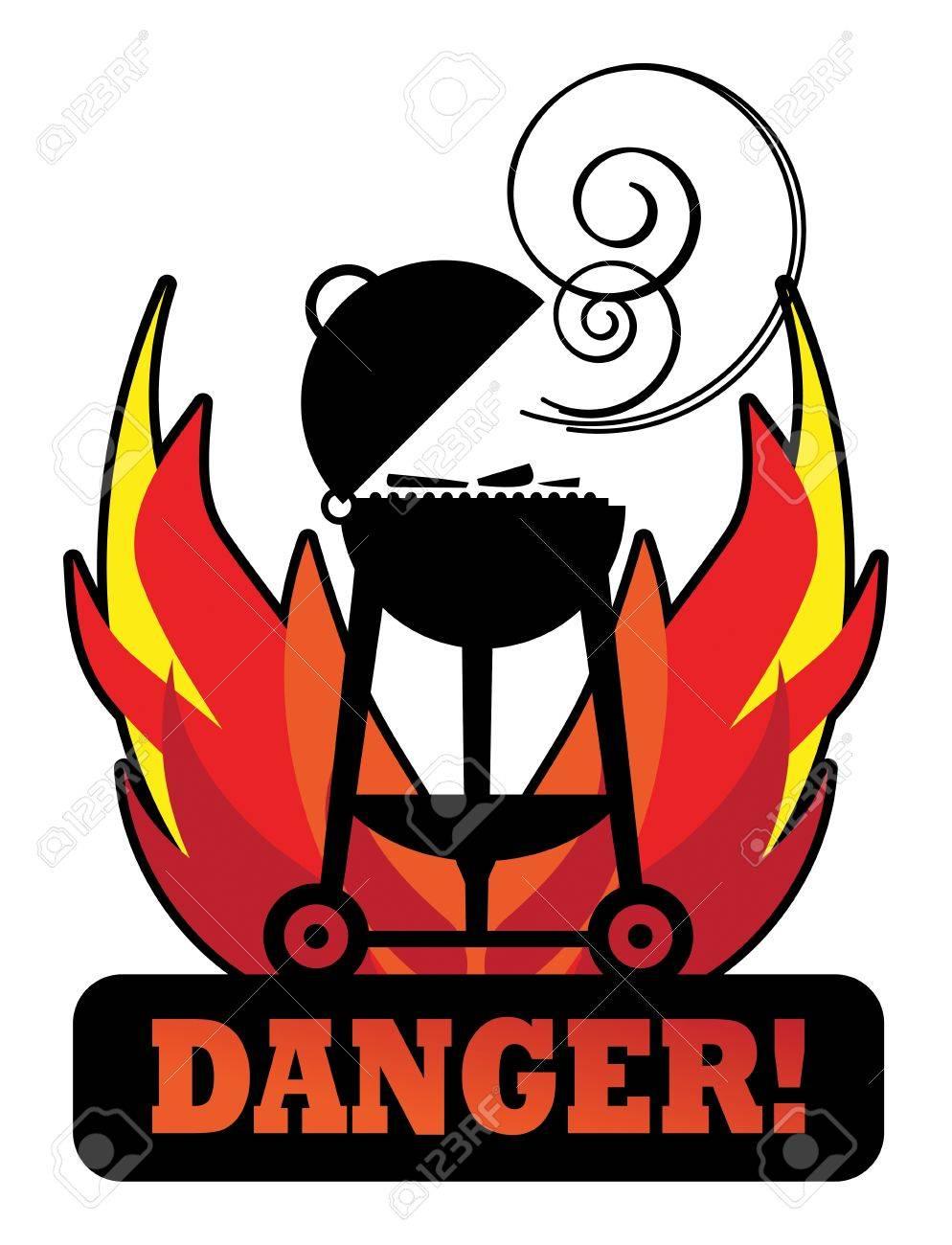 Grill Danger sign Stock Vector - 15314099
