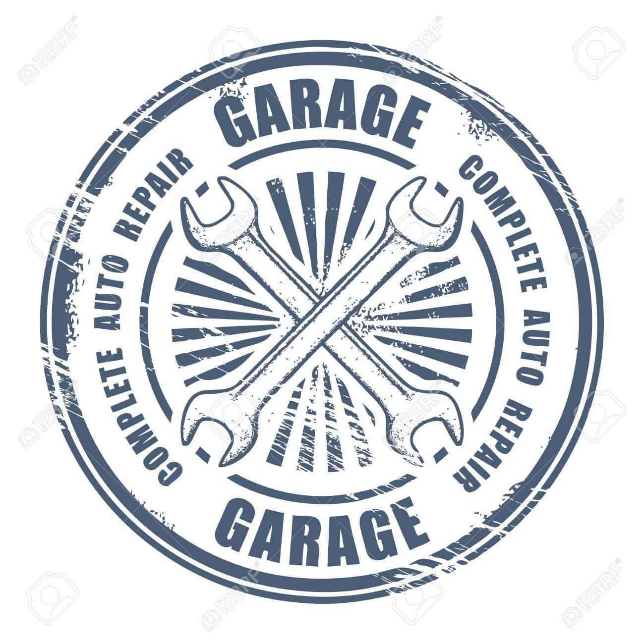 Car service garage grunge stamp Stock Vector - 15334812