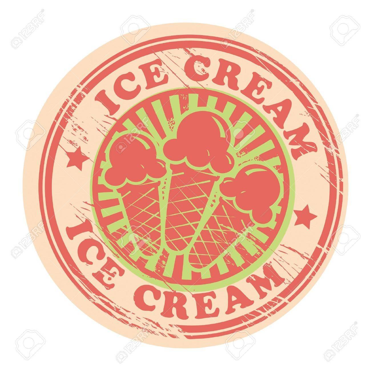 Vintage retro ice cream label Stock Vector - 15334793