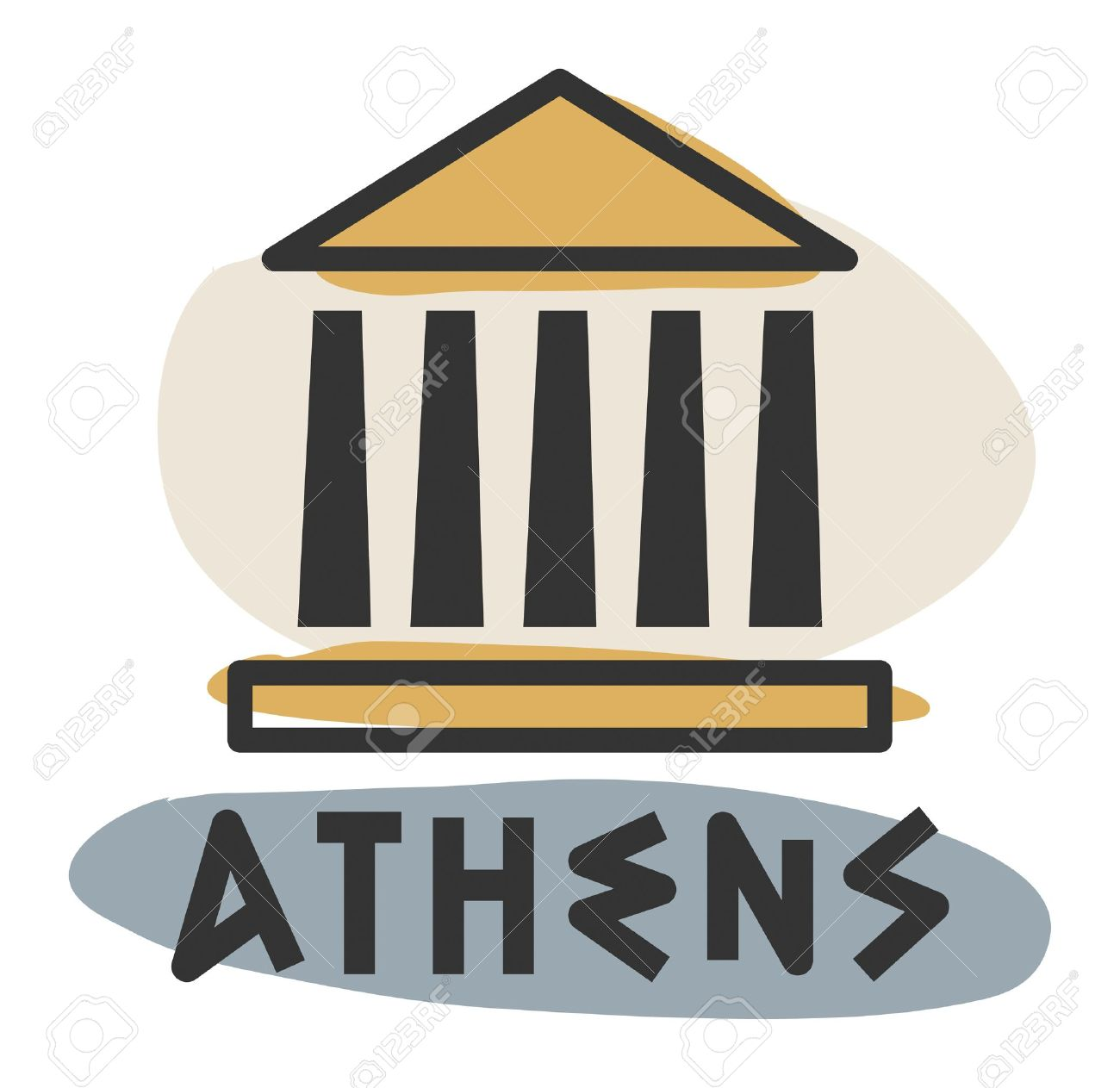 Abstract Athens Icon Royalty Free Cliparts Vectors And Stock