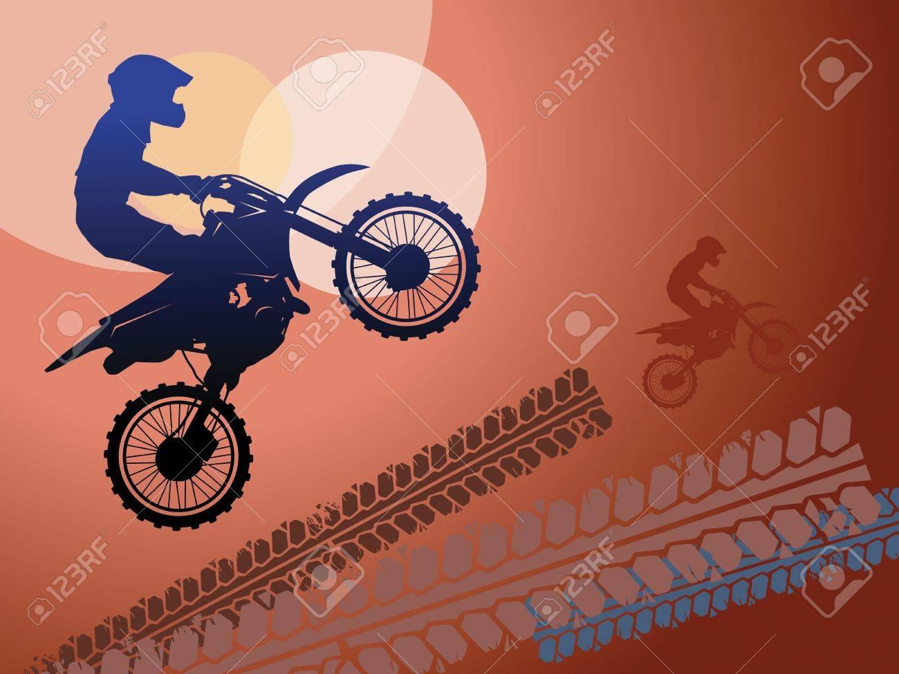 Motocross race background Stock Vector - 16468852