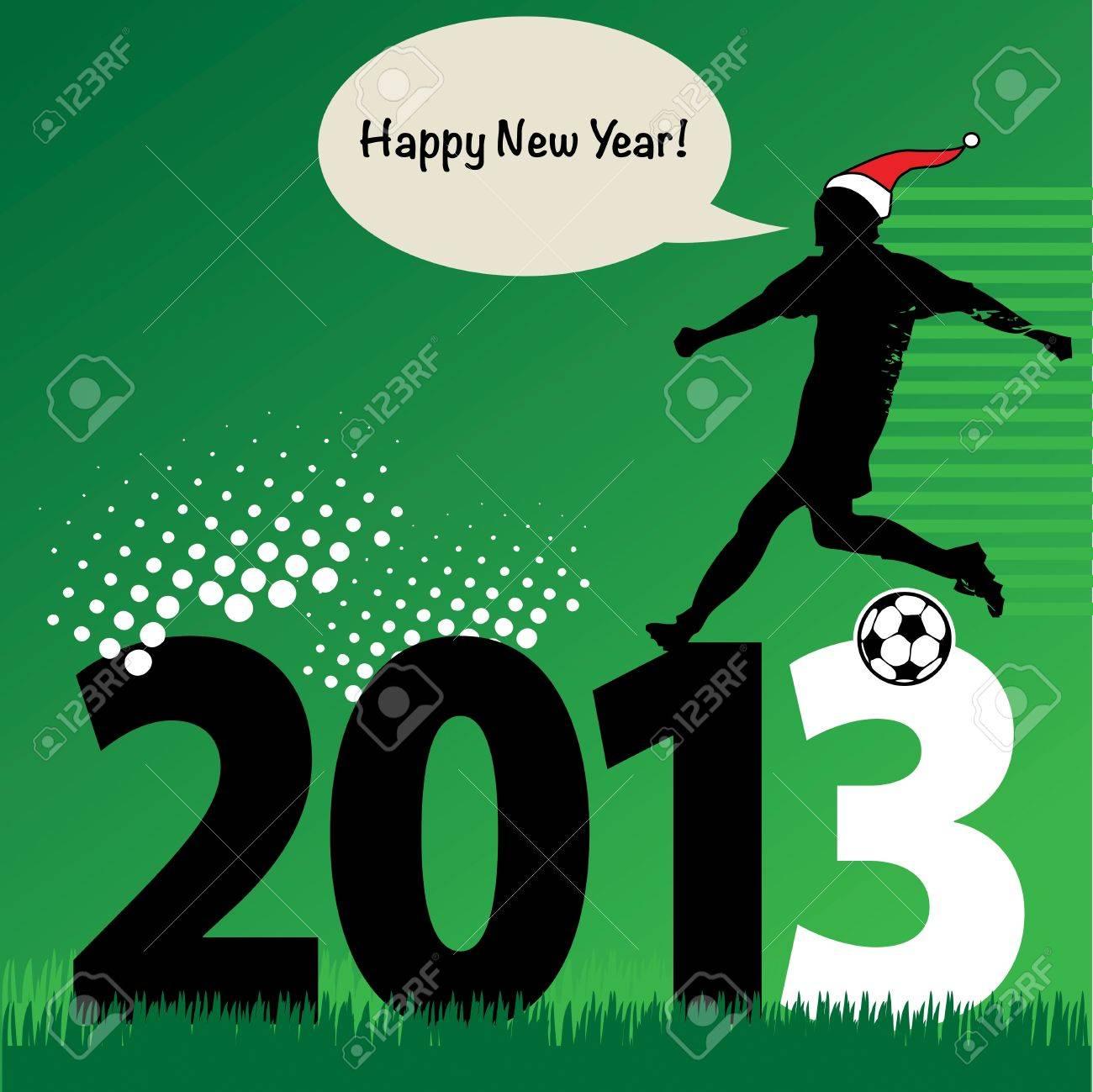 new year football Stock Vector - 16656896