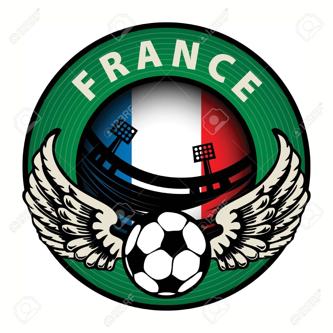 Label with football and name France Stock Vector - 17074812