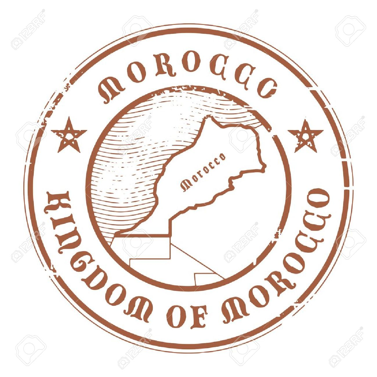 Grunge rubber stamp with the name and map of Morocco Stock Vector - 17215641
