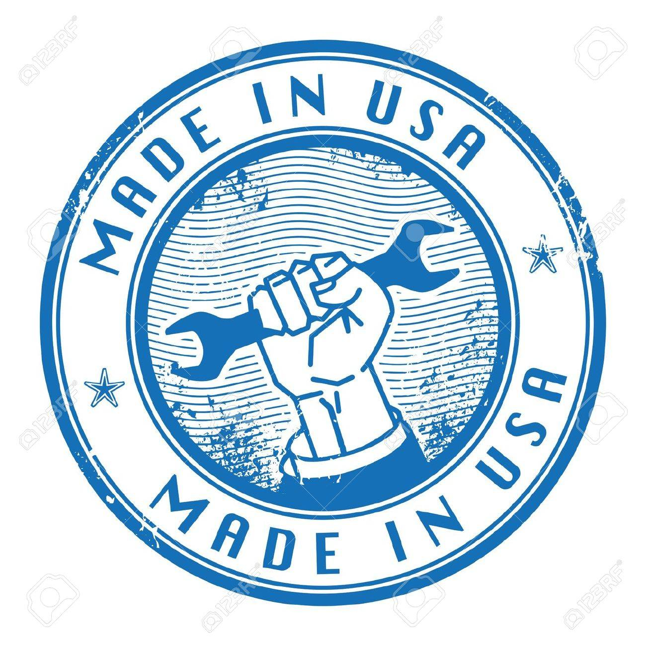 Grunge rubber stamp with words Made in USA inside Stock Vector - 17300436