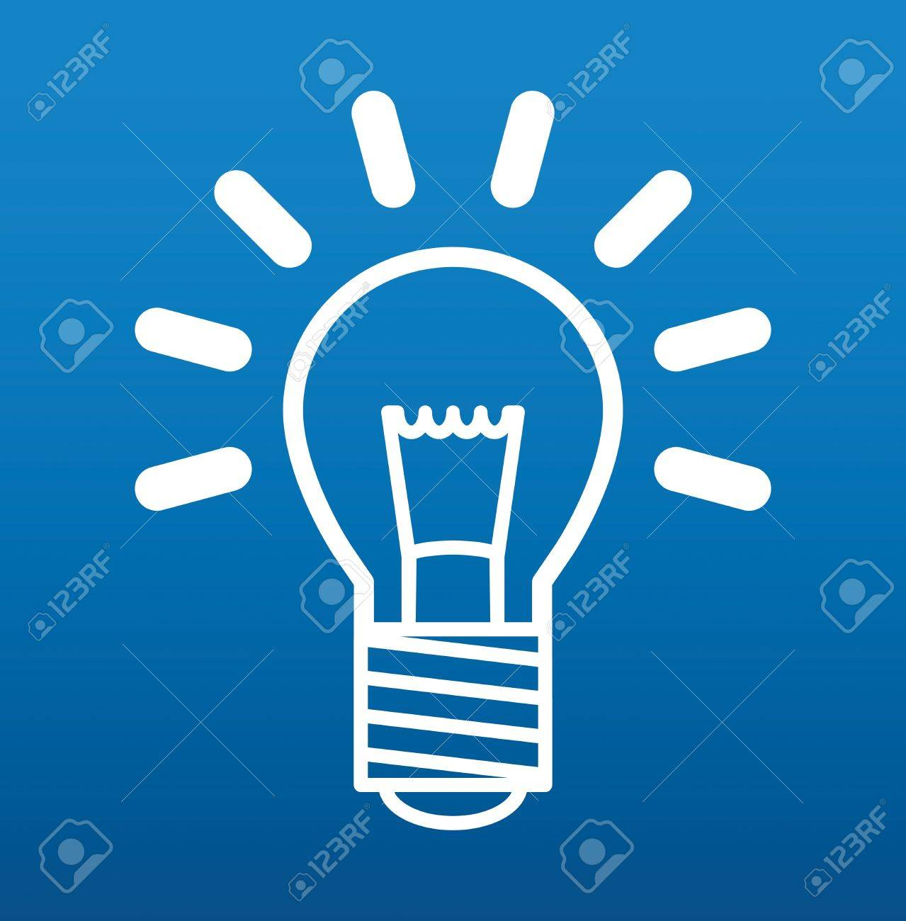 Light bulb sign Stock Vector - 17457418