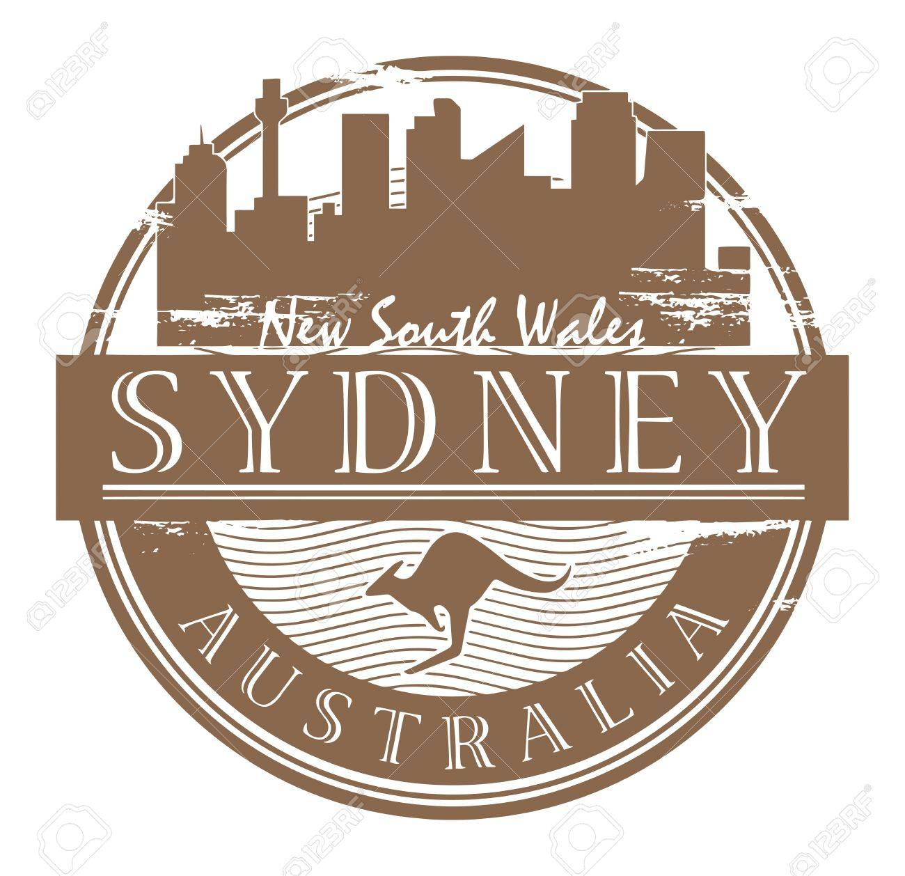 Grunge rubber stamp with the name of Sydney, Australia written inside the stamp Stock Vector - 17590365