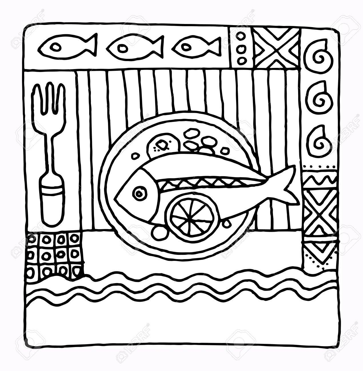 Hand drawn restaurant menu design Stock Vector - 17843808