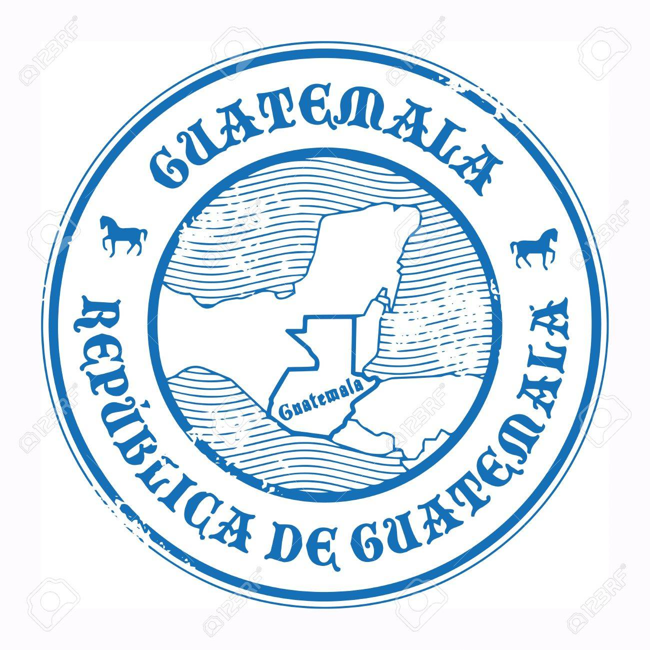 Grunge rubber stamp with the name and map of Guatemala Stock Vector - 17843832