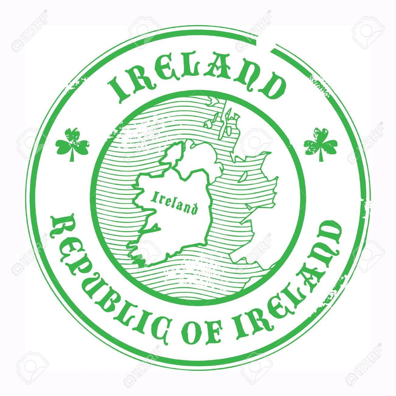 Grunge rubber stamp with the name and map of Ireland Stock Vector - 18001310
