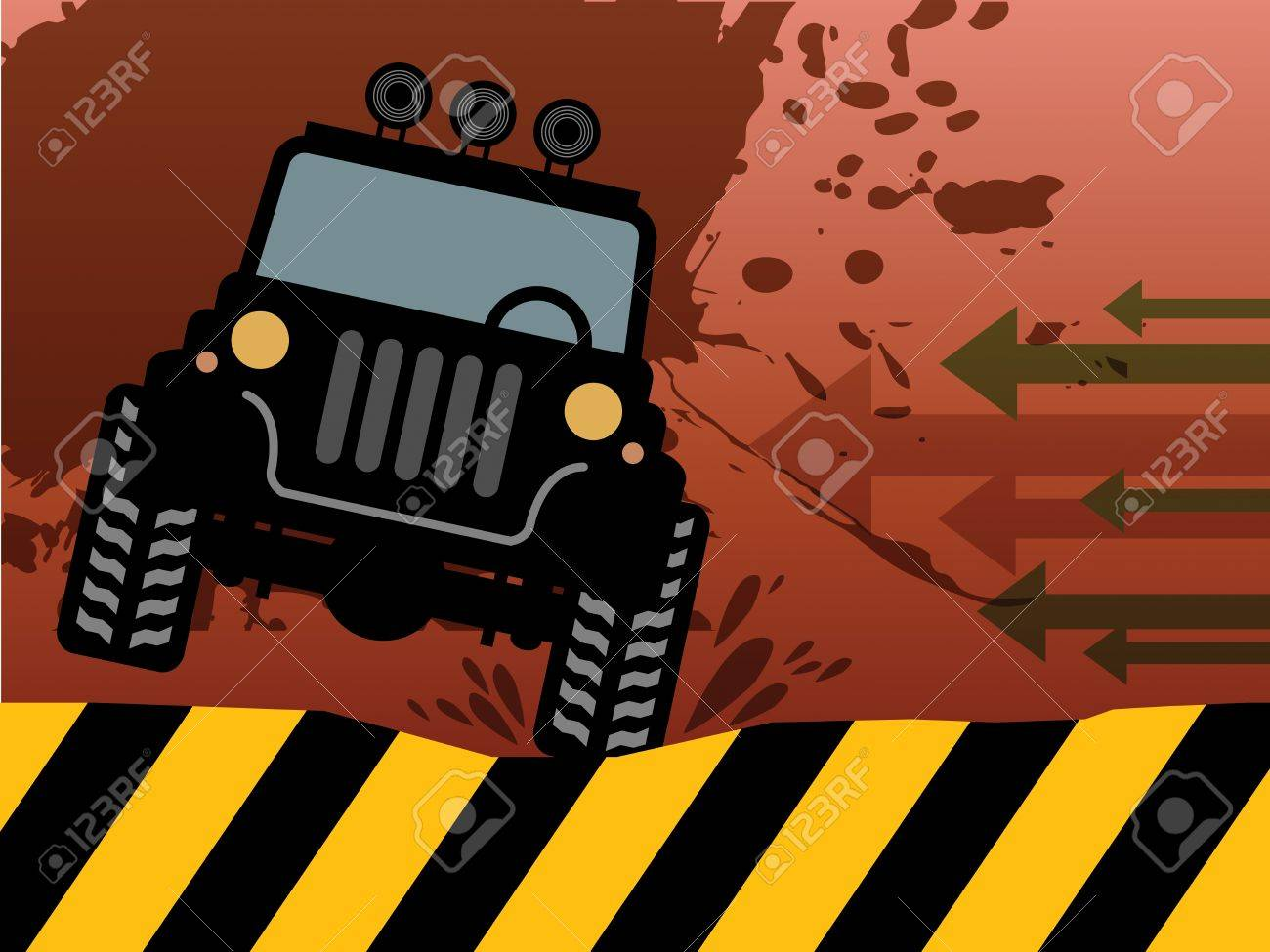 Off-road vehicle abstract Stock Vector - 18088463