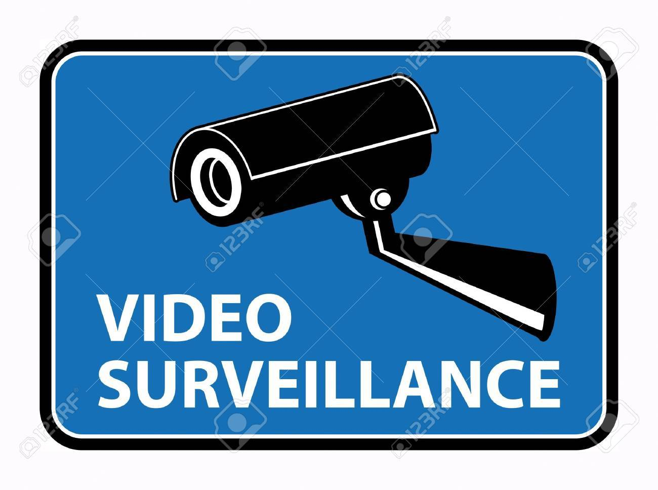 Video surveillance sign Stock Vector - 18246153