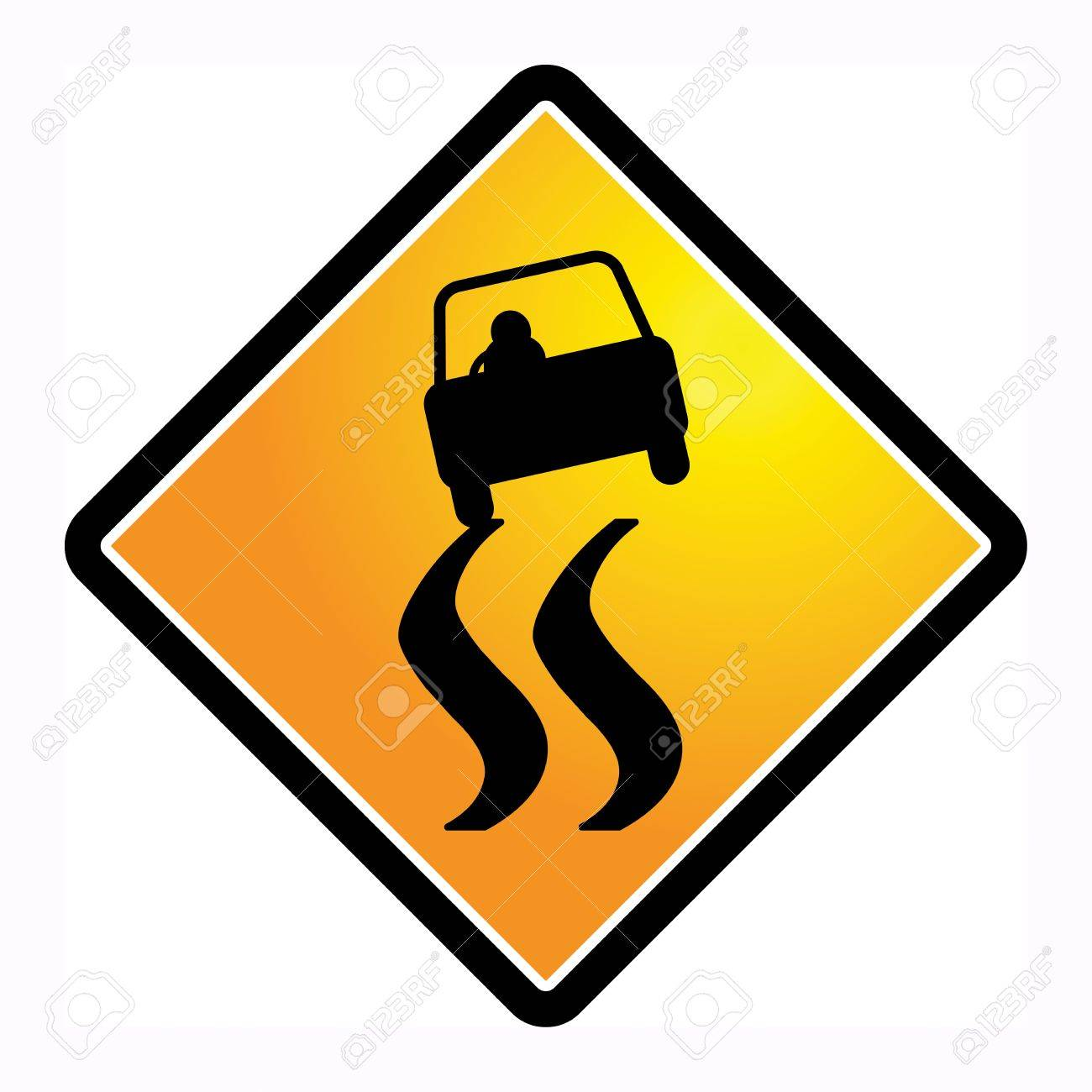 Slippery When Wet Road Sign Clipart (#2150625) - PinClipart