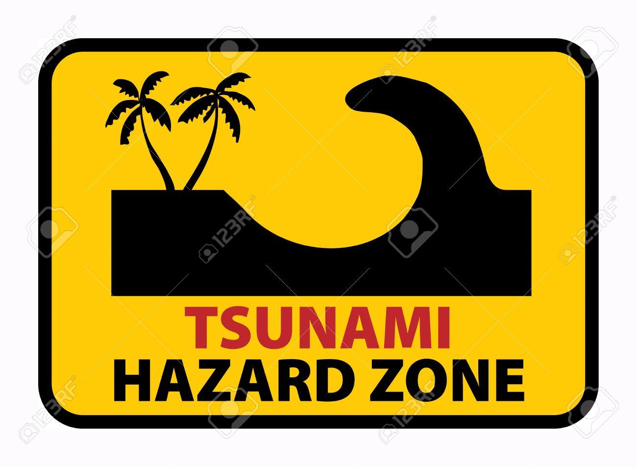 Tsunami Hazard Zone sign Stock Vector - 18246154
