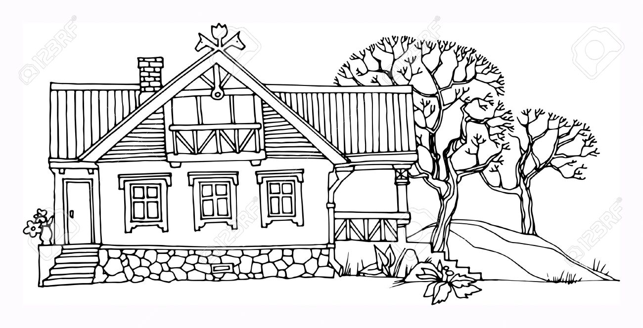 Good Cartoon Hand Drawing House Stock Vector   18308745