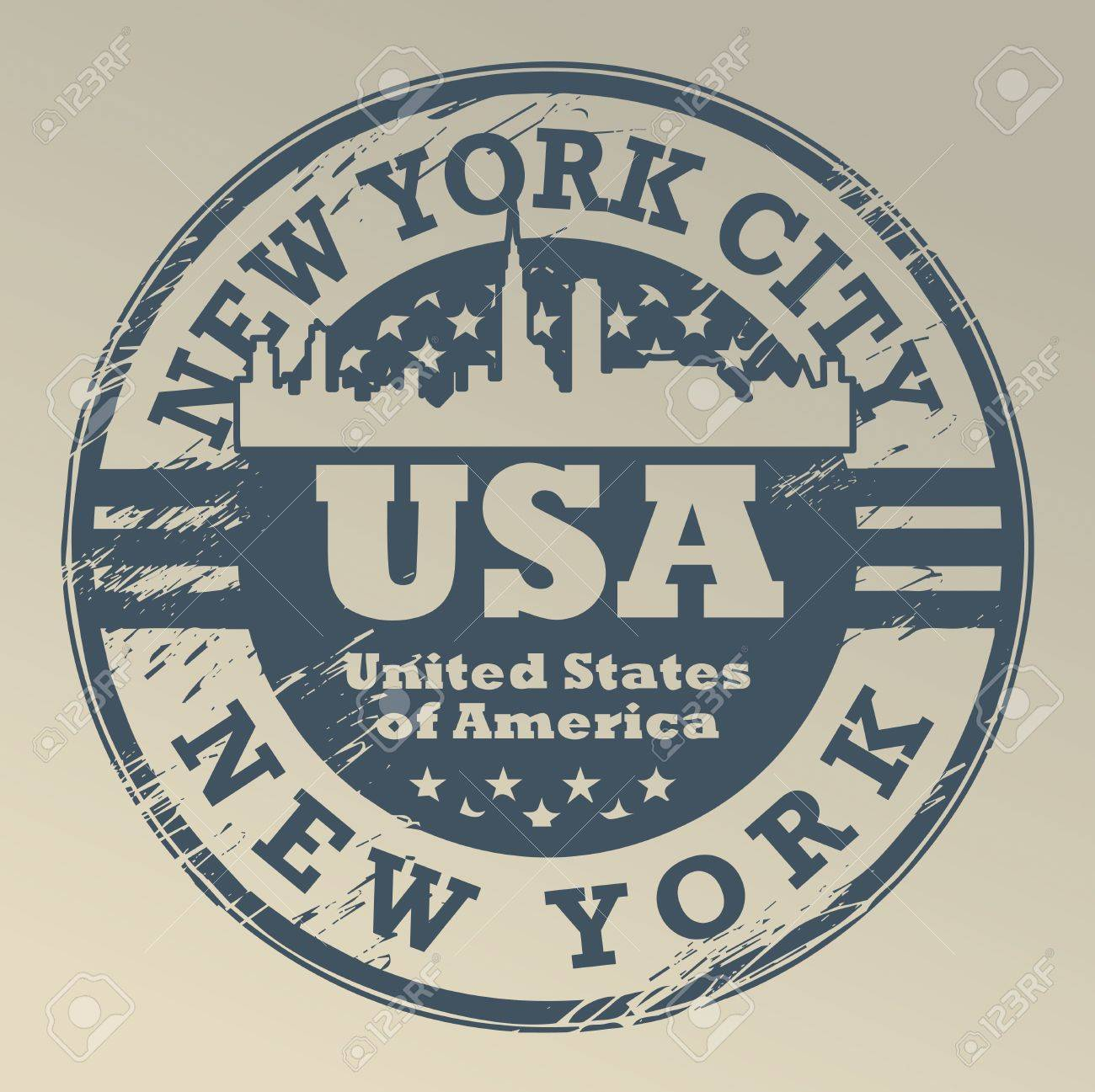 Grunge rubber stamp with name of New York, New York City Stock Vector - 18346135