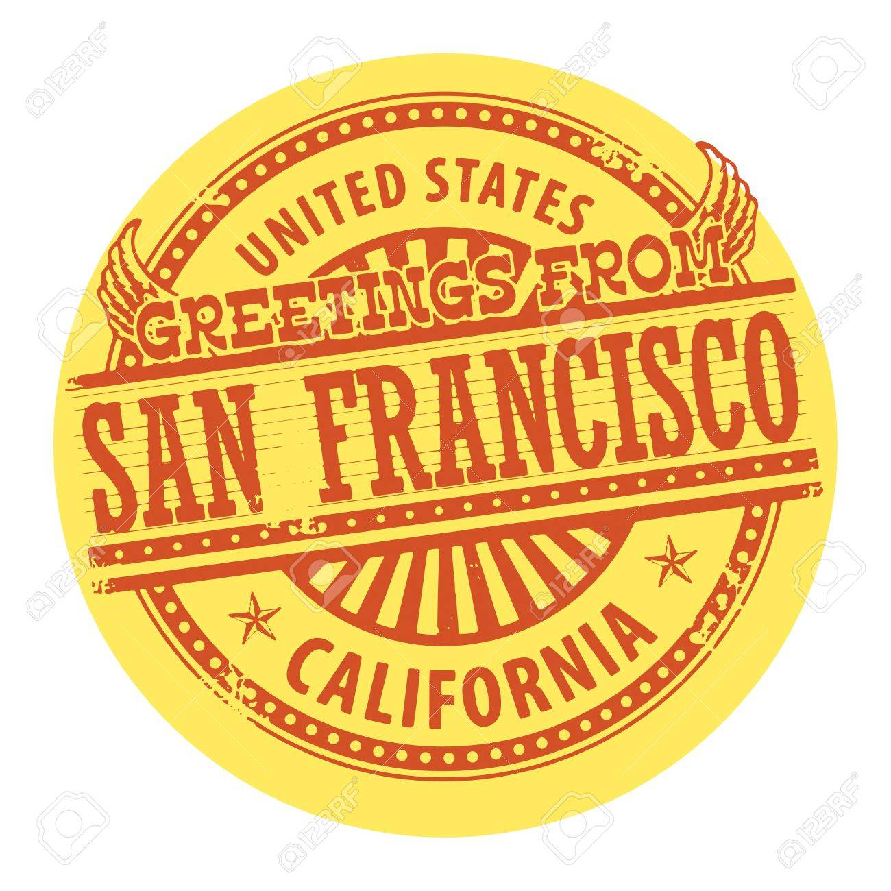 Grunge color stamp with text greetings from san francisco royalty grunge color stamp with text greetings from san francisco stock vector 18684759 m4hsunfo