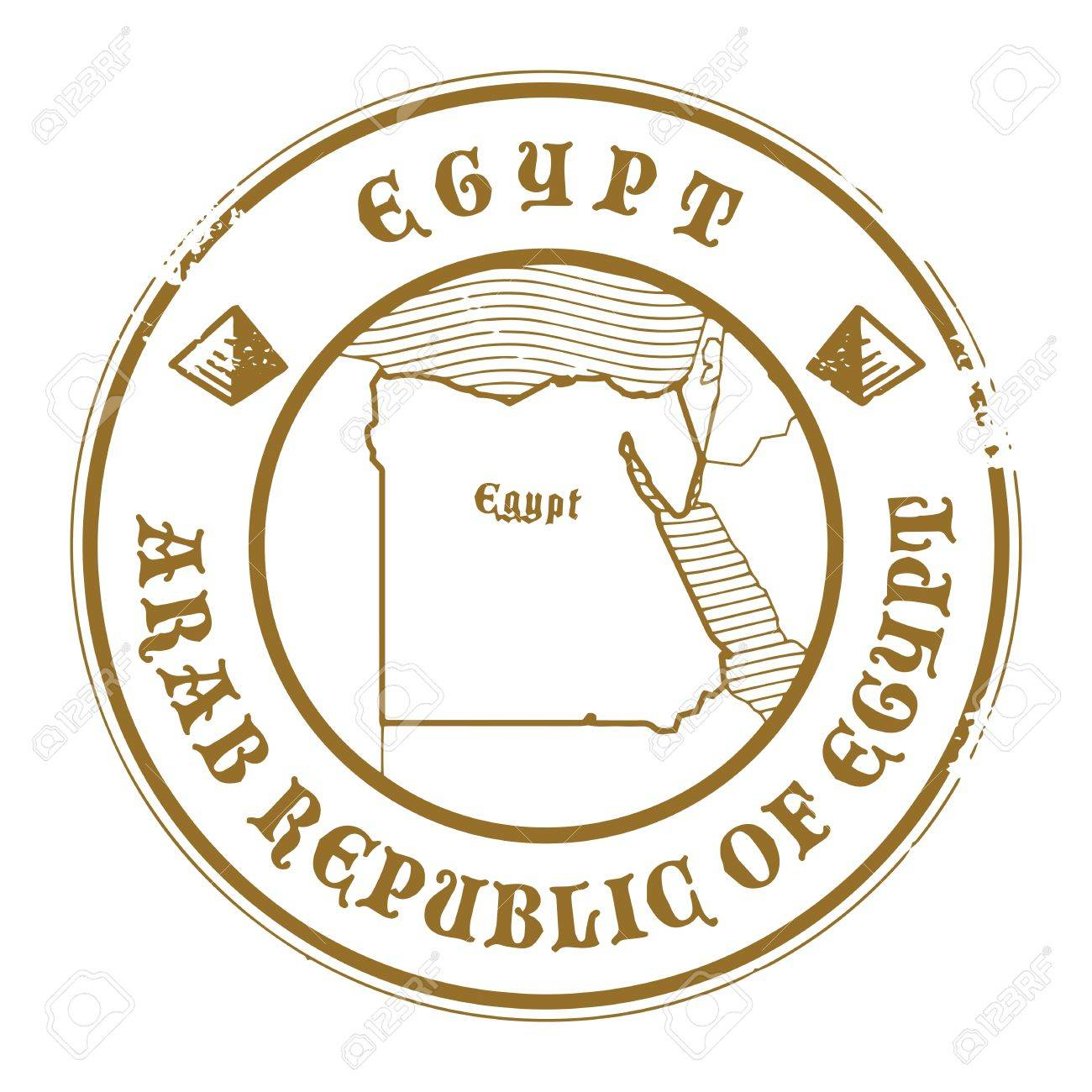 Grunge Rubber Stamp With The Name And Map Of Egypt Royalty Free - Map of egypt vector free