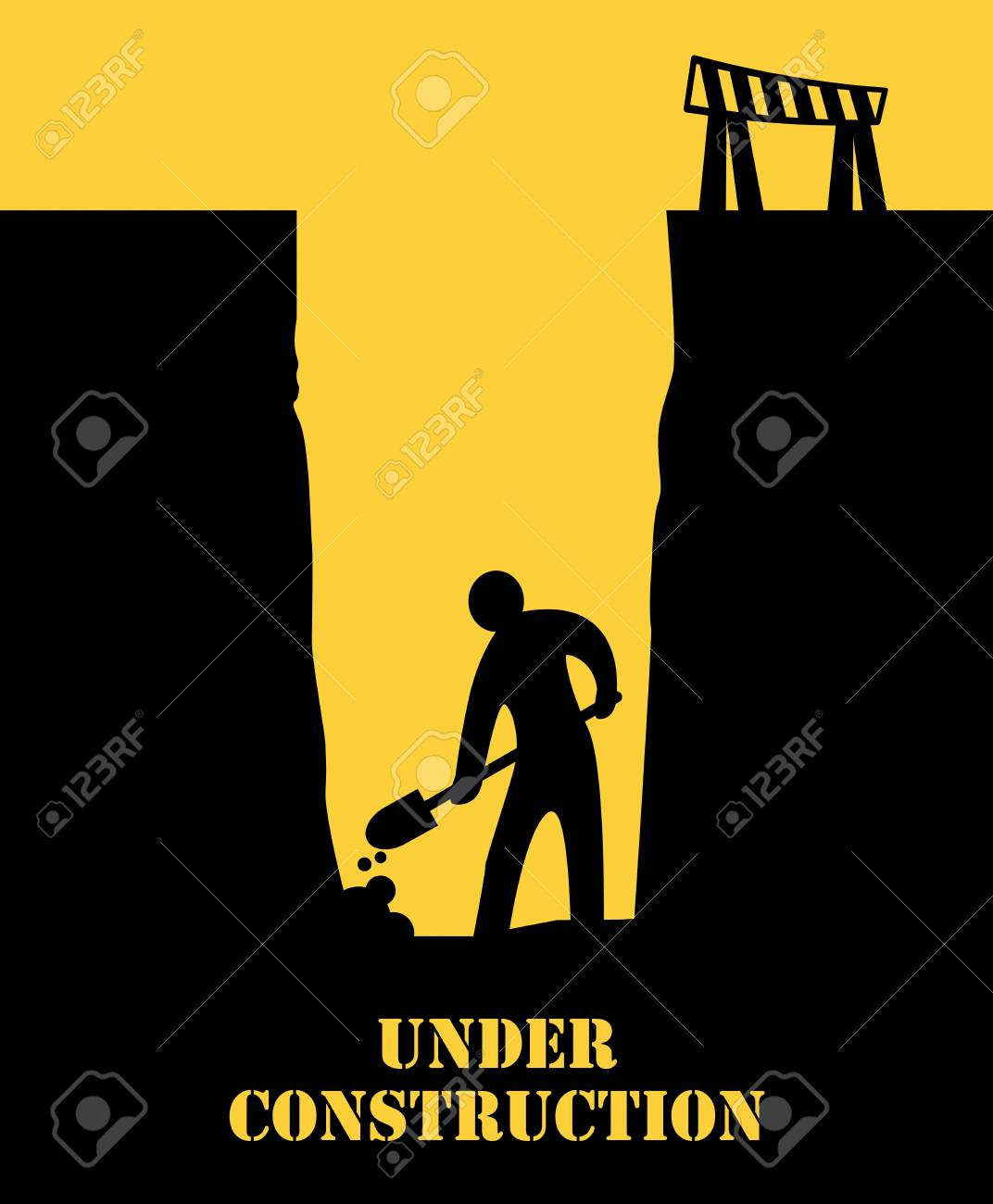 Abstract under construction background Stock Vector - 21632411