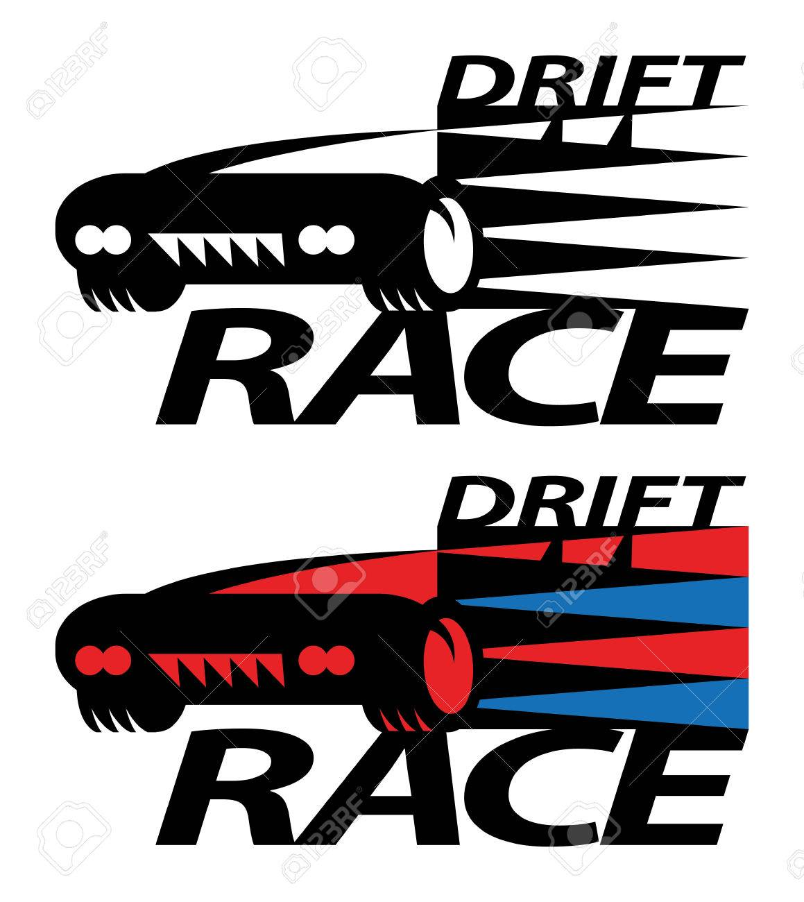 Drift Race Sign Or Symbol Royalty Free Cliparts Vectors And Stock