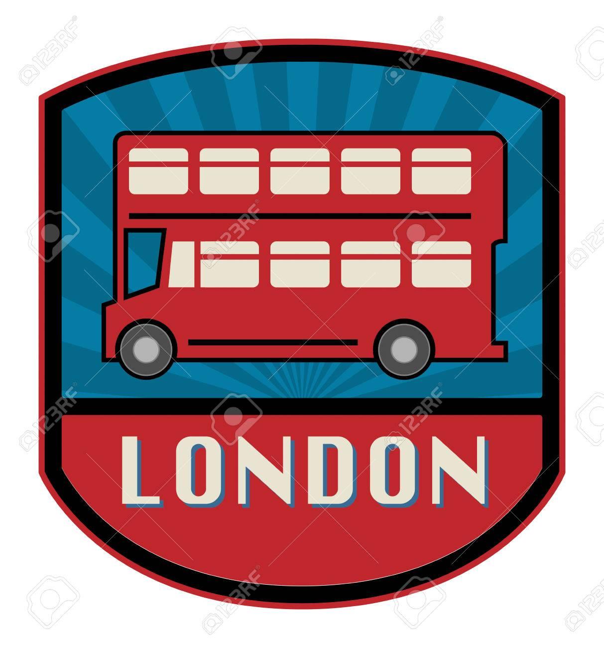 Bus label Stock Vector - 23564518
