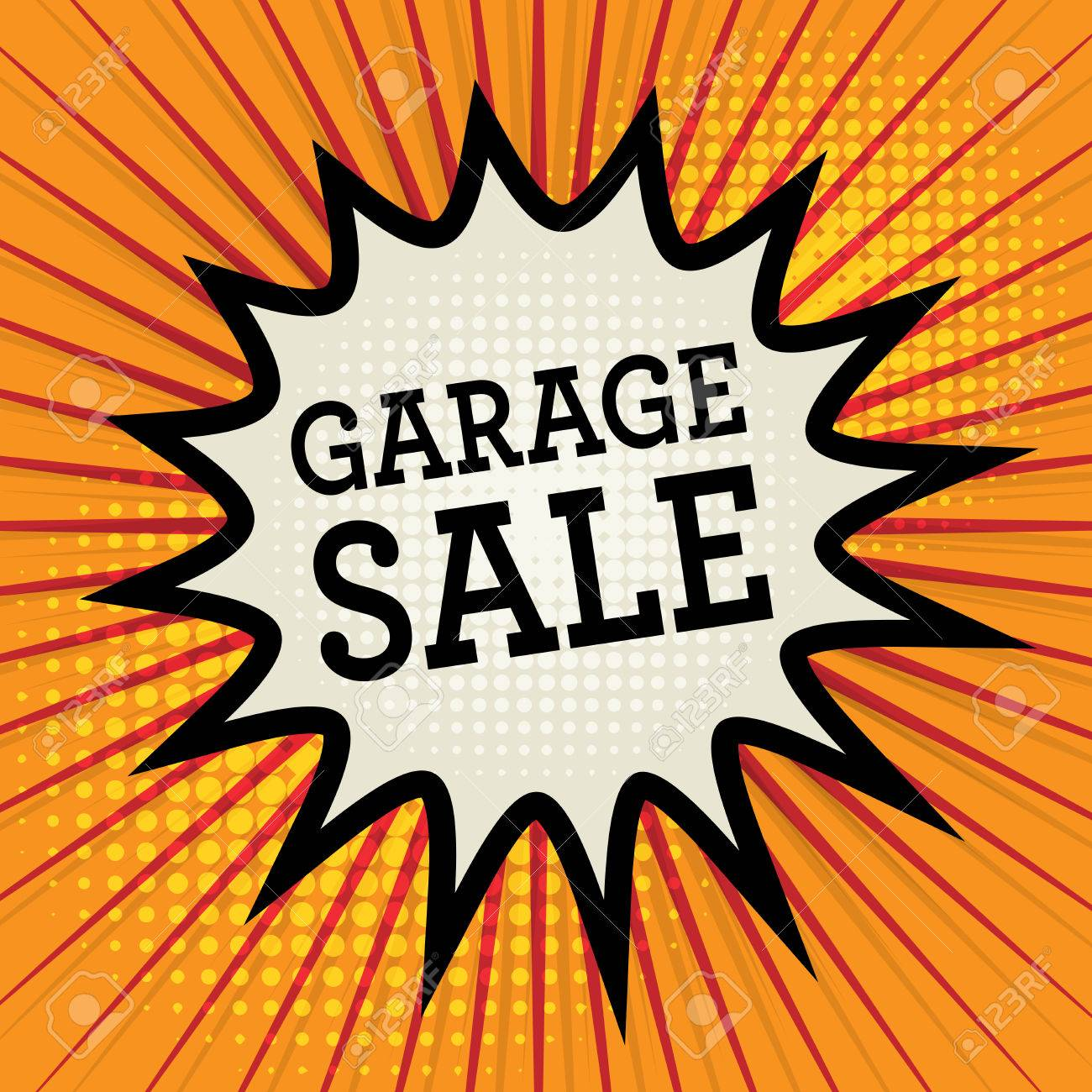 stickers of stock photo image close various sale garage advertising view generic denomination