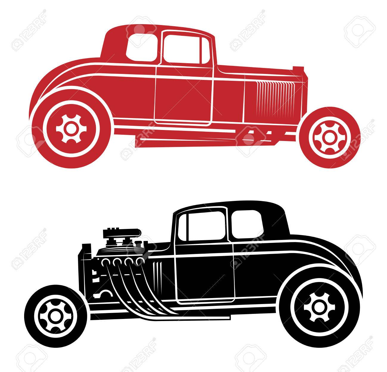 Hot Rod Vector Illustration Royalty Free Cliparts Vectors And Stock Illustration Image 37185863