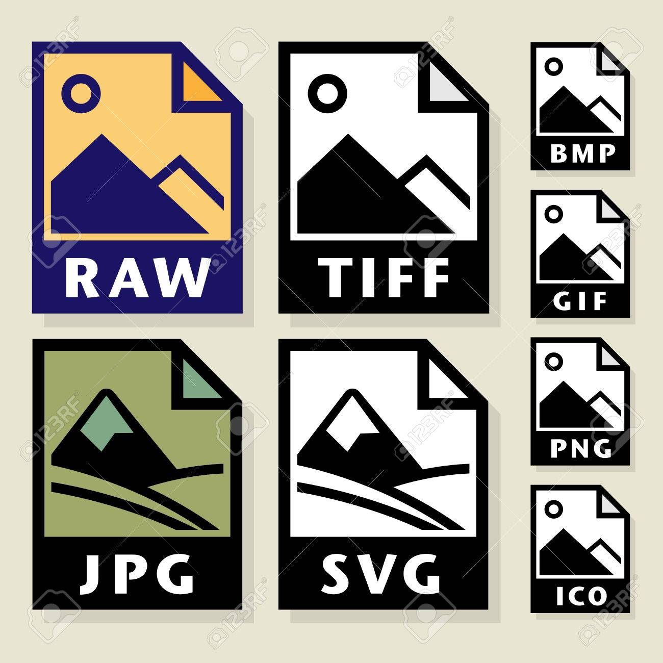 file format or file extension icons set vector illustration royalty