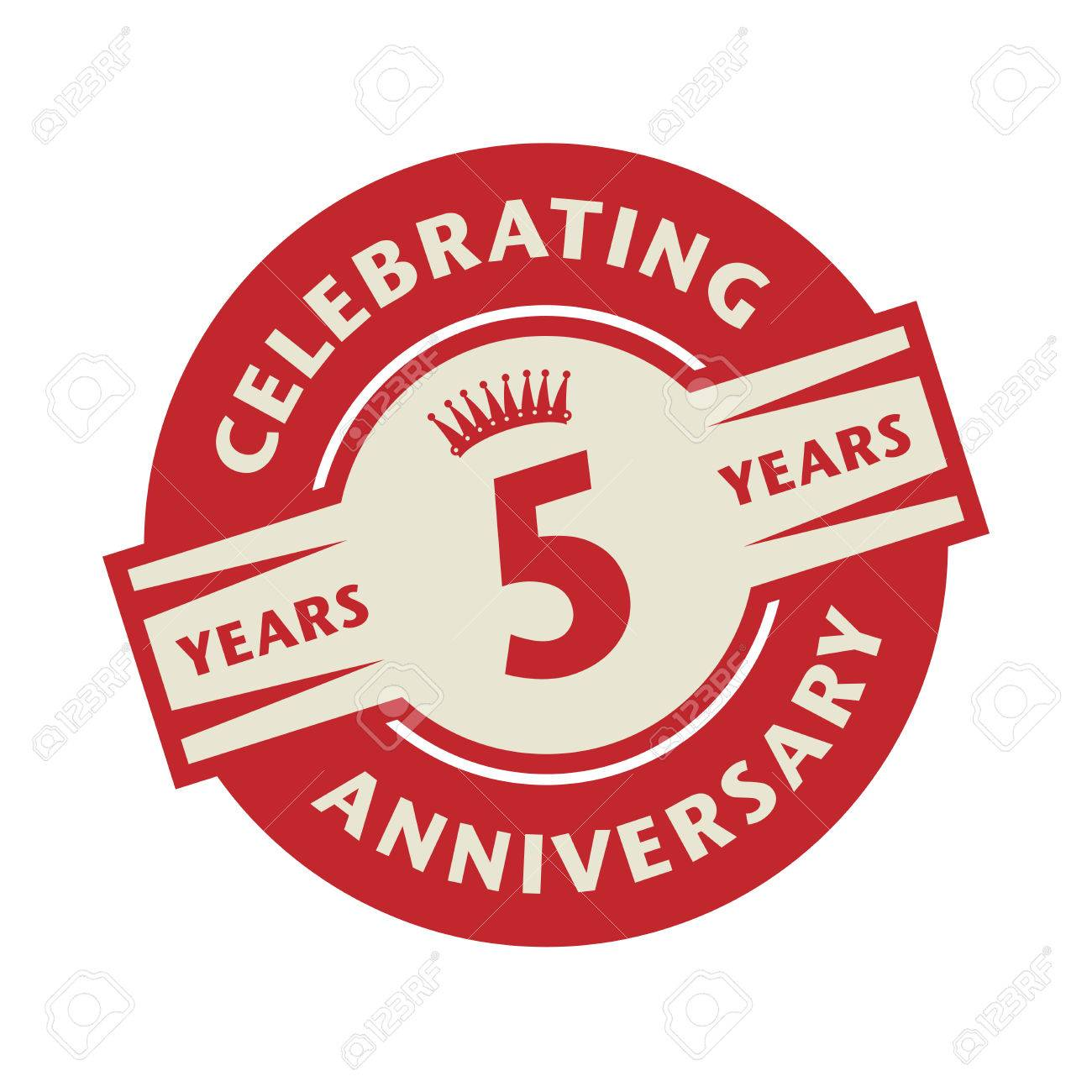 Stamp or label with the text celebrating 5 years anniversary stamp or label with the text celebrating 5 years anniversary vector illustration stock vector biocorpaavc Gallery