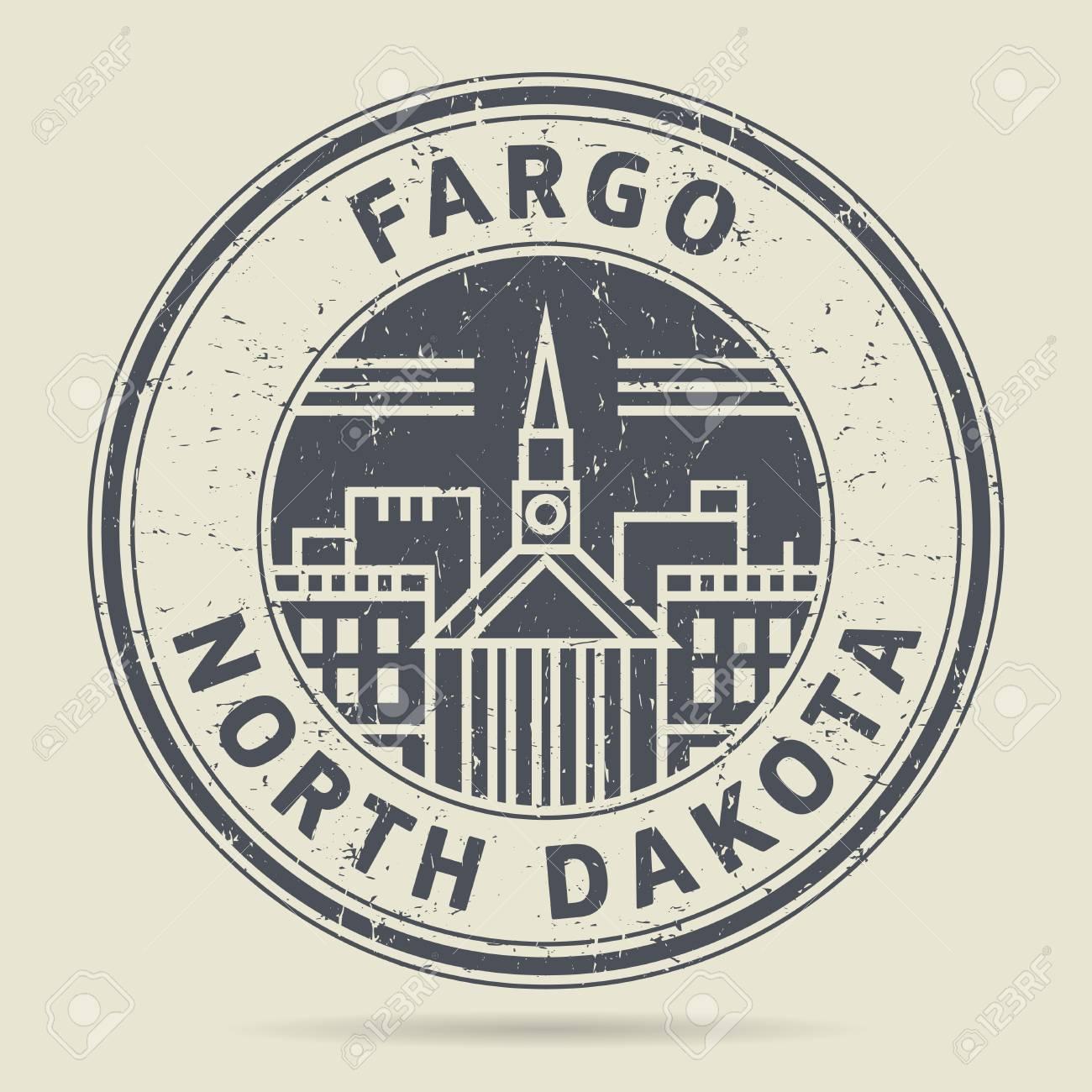 Grunge Rubber Stamp Or Label With Text Fargo North Dakota Written Inside Vector Illustration